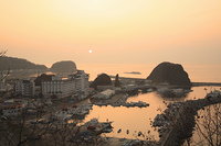 夕陽台からの夕日