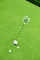 ゴルフ場の練習グリーン