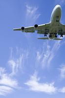 旅客機と雲