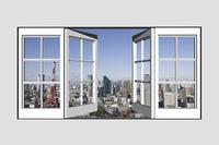 窓から東京の景色と東京タワー