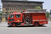 走る消防車