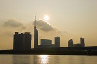 百道のビル群 朝陽