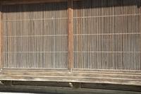 日本家屋の格子窓