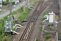 秋田新幹線、奥羽本線(3線区間)分岐器