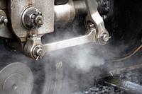 蒸気機関車クロスヘッドと蒸気