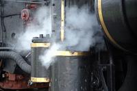 蒸気機関車空気圧縮機と蒸気