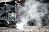 蒸気機関車従台車と蒸気