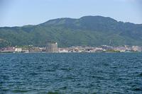 比叡山と琵琶湖