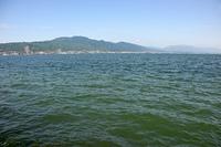 琵琶湖と比叡山、比良山地