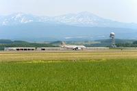 旭川空港と大雪山