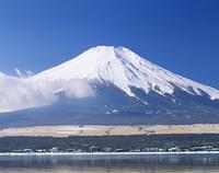 新雪の富士山