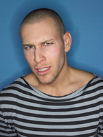 Man Wearing Striped Shirt