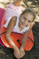 Girl Lying on Boogie Boards