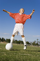 Teenage Girl Enjoying Playing Soccer