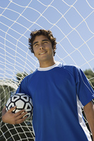 Soccer Player Standing in Goal