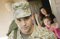 Soldier Leaving Home