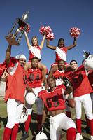 Winning Football Players with Cheerleaders
