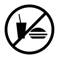 食事禁止マーク