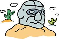オルメカ巨石人頭像