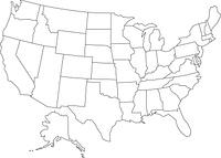 アメリカ合衆国の白地図
