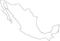 メキシコの白地図
