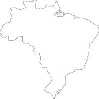 ブラジルの白地図