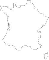 フランスの白地図
