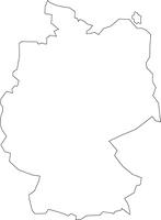 ドイツの白地図