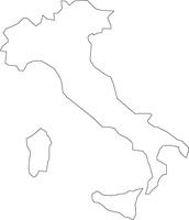 イタリアの白地図
