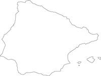 スペインの白地図