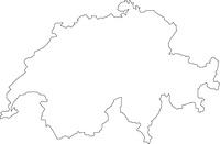 スイスの白地図