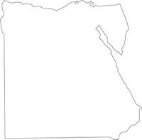 エジプトの白地図