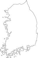 韓国の白地図