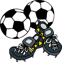 サッカーボールとシューズ
