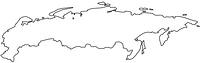 旧ソ連の白地図