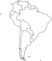 ラテンアメリカの白地図