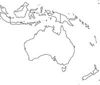 オセアニアの白地図