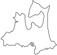 青森県の白地図