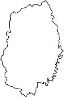岩手県の白地図