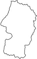 山形県の白地図