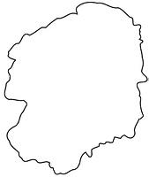 栃木県の白地図