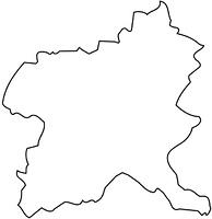 群馬県の白地図