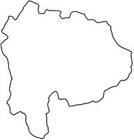 山梨県の白地図