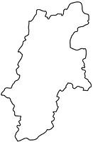 長野県の白地図