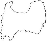 富山県の白地図