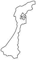 石川県の白地図
