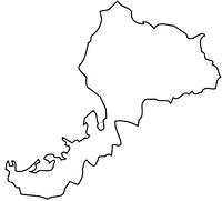 福井県の白地図