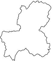岐阜県の白地図