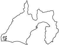 静岡県の白地図