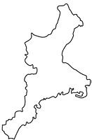 三重県の白地図